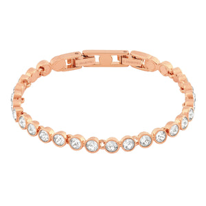 SWAROVSKI TENNIS BRACELET, WHITE, ROSE GOLD PLATED