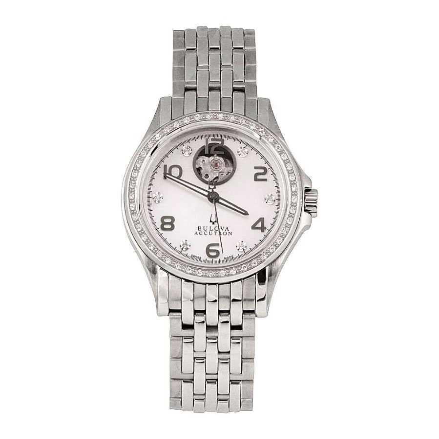 BULOVA ACCUTRON AUTOMATIC WOMEN'S WATCH, DIAMOND BEZEL