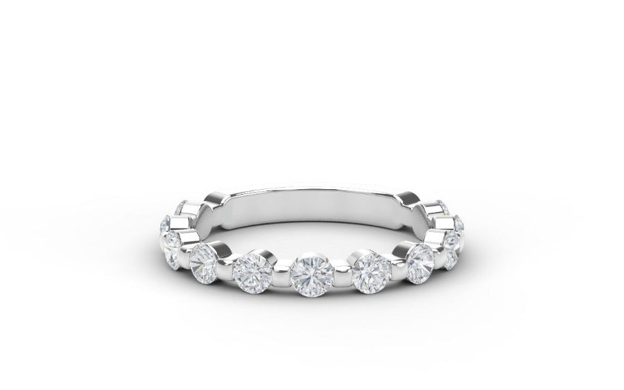 Platinum 0.83cttw Diamond Ring