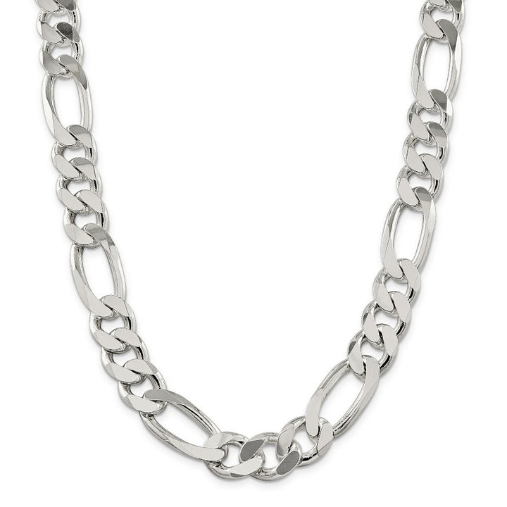 Sterling Silver 7.9mm Wide Figaro Chain in 22""