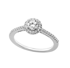 14KT WHITE GOLD 1.16CTTW CERTIFIED ENGAGEMENT RING