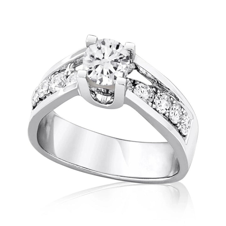 14KT CHANNEL SET DIAMOND ENGAGEMENT RING