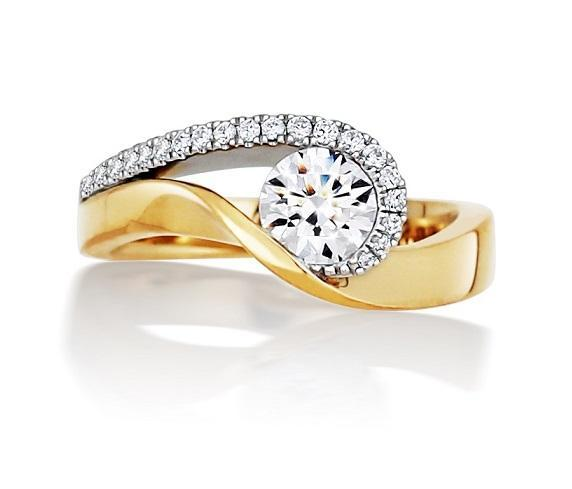 14kt Yellow Gold 0.87cttw Certified Engagement Ring