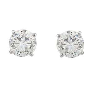 14kt White Gold 1.5cttw Diamond Studs
