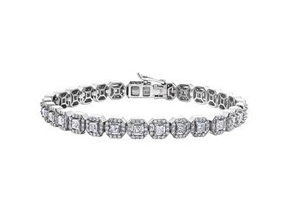 18kt White Gold 12.73cttw Diamond Bracelet