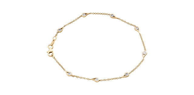 14kt Yellow Gold Canadian Diamond Bracelet