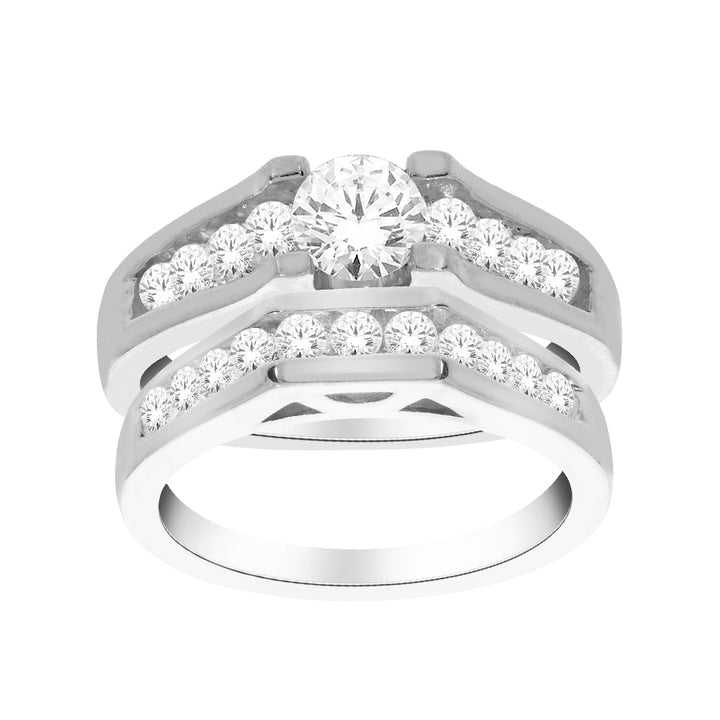 1kt White Gold 1.50cttw Diamond Wedding Set