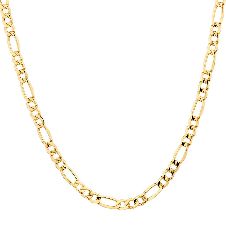 10kt Yellow Gold 5mm Wide Figaro Chain