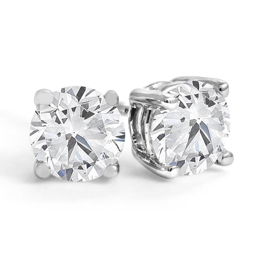 Four-Prong Canadian Diamond Stud Earrings