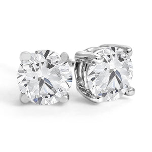 Four-Prong 0.70cttw Canadian Diamond Stud Earrings