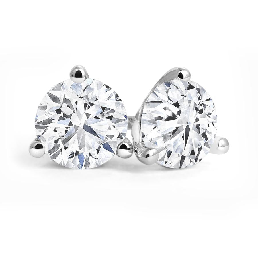 Three-Prong 0.25cttw Canadian Diamond Stud Earrings