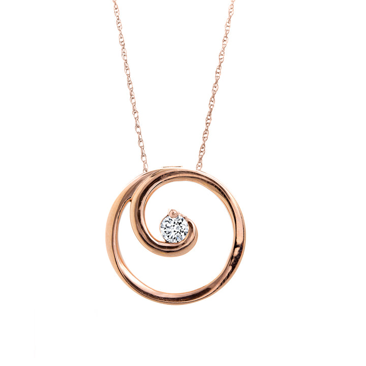 10kt Rose Gold 0.15ct Canadian Diamond Circle Pendant