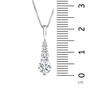 14kt White Gold 1.01cttw Timeless Certified Pendant
