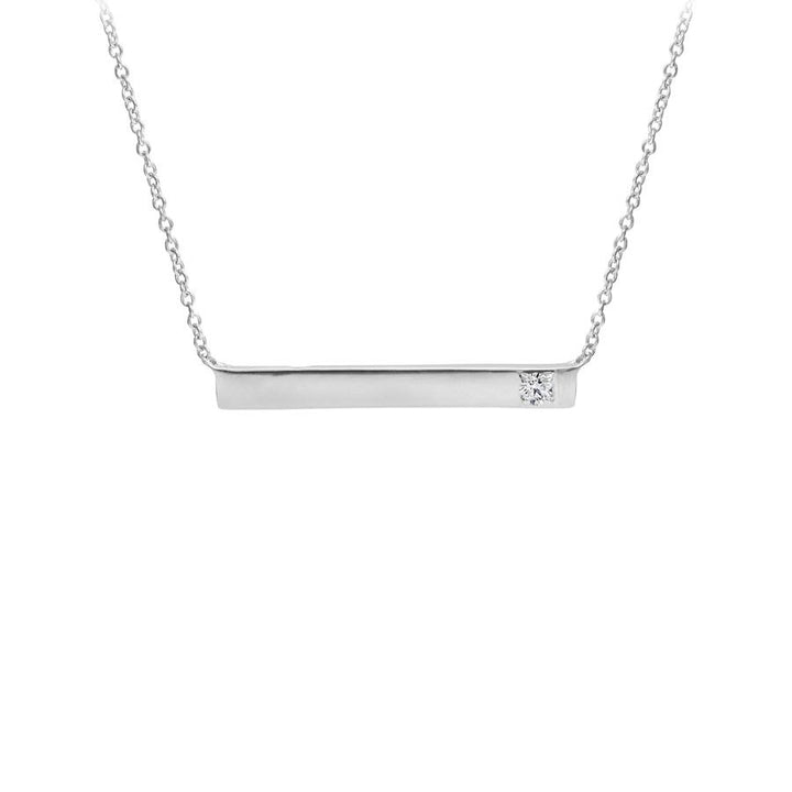 SILVER PENDANT SET WITH A CANADIAN DIAMOND