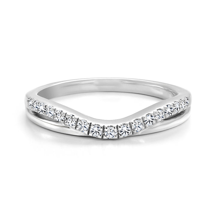 14kt Gold Curved and Layered Diamond Band