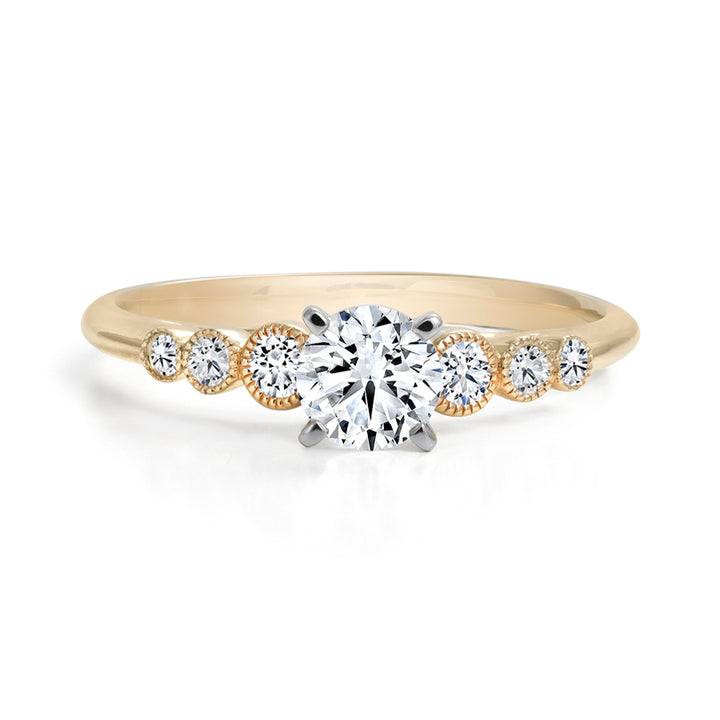 14kt Yellow Gold 0.52cttw Canadian Diamond Engagement Ring