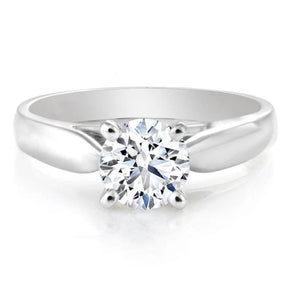14KT WHITE GOLD 1.00CT ROUND CERTIFIED CANADIAN DIAMOND SOLITAIRE SKU265985