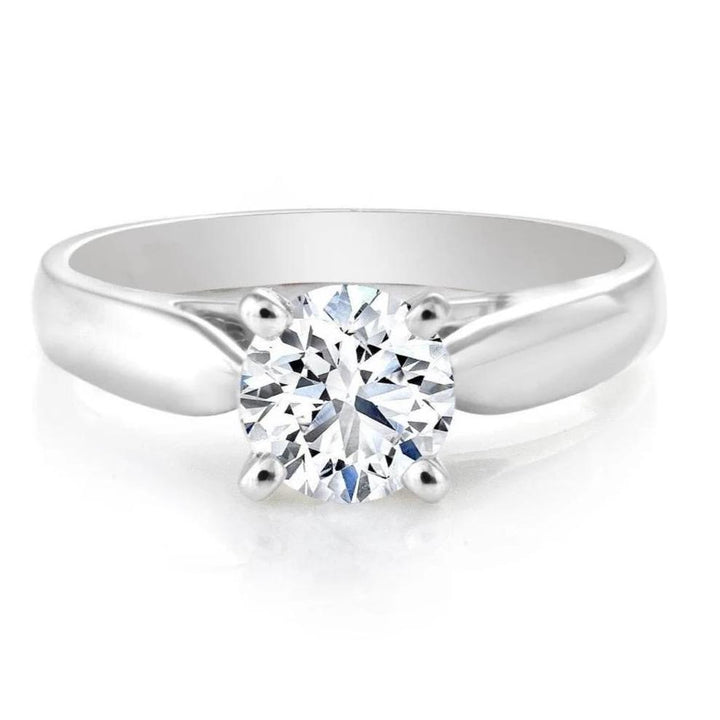 18kt White Gold 1.70ct Round Canadian Diamond Solitaire Maple Lead Diamonds