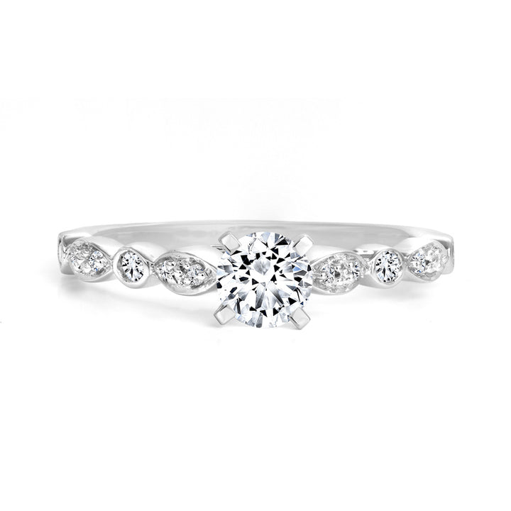 14kt White Gold 050cttw Engagement Ring with Canadian Center Dimaond