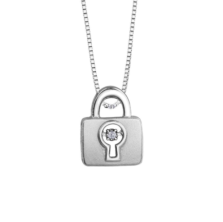 SILVER LOCK PULSE DIAMOND PENDANT. BRING LOVE TO LIFE.