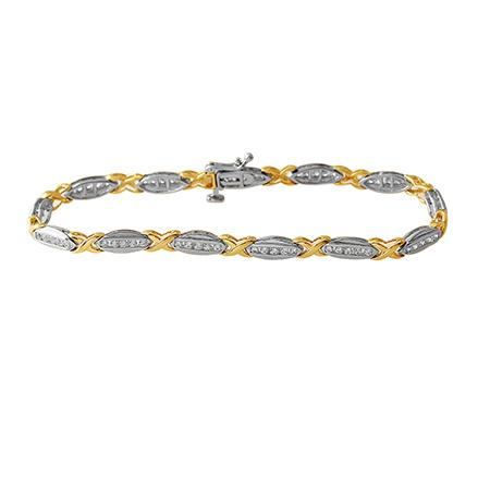 10kt Two-Tone 1.00cttw Diamond Bracelet
