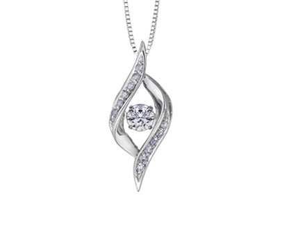 10kt Pulse Canadian Diamond Pendant