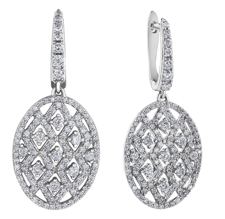 10KT WHITE GOLD 1.50CTTW DIAMOND EARRINGS
