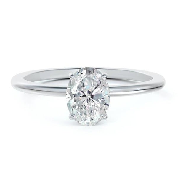 Forevermark Platinum 1.00ct Oval Solitaire Engagement Ring
