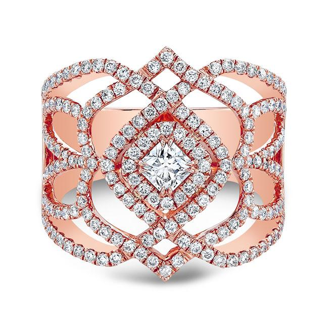 18kt Rose Gold 1.03cttw Dinner Ring