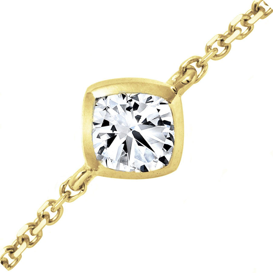 18kt Yellow Gold 0.22ct Forevermark Diamond Chain Bracelet