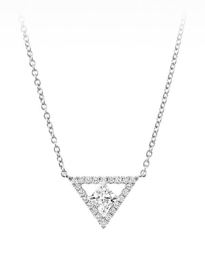 18kt White Gold 0.35cttw Forevermark Black Label Necklace