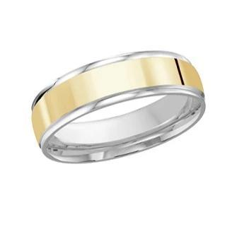 10kt Yellow and White Gold Men's Wedding Band