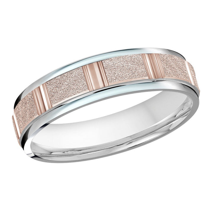 10kt Two Toned Gold Men's Wedding Band