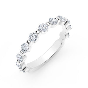 Platinum 0.59cttw Diamond Wedding Band