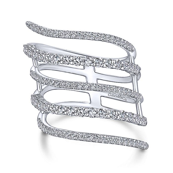 14kt White Gold 1.12cttw Diamond Wrap Ring