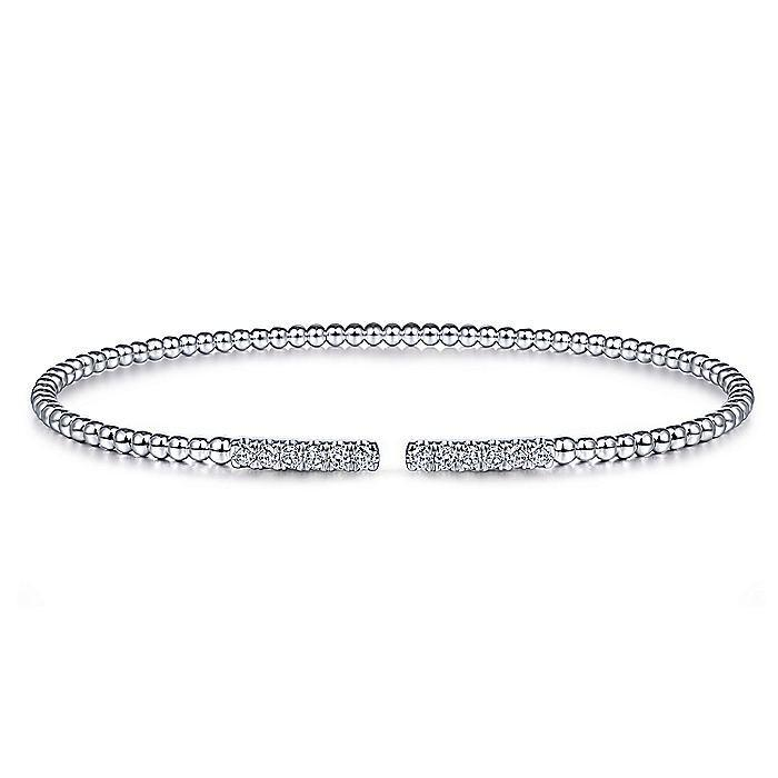 14kt White Gold Diamond Bangle