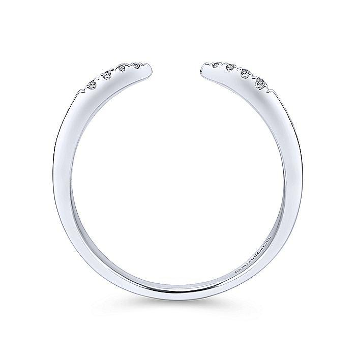 14kt White Gold Open Diamond Ring