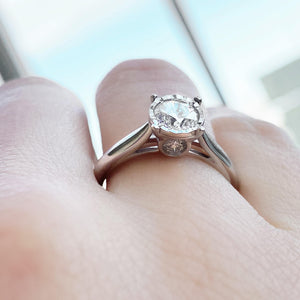 14kt White Gold 1.00cttw Engagement Ring