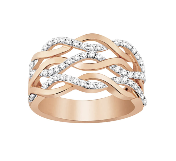 10kt Rose Gold 0.50cttw Diamond Dinner Ring