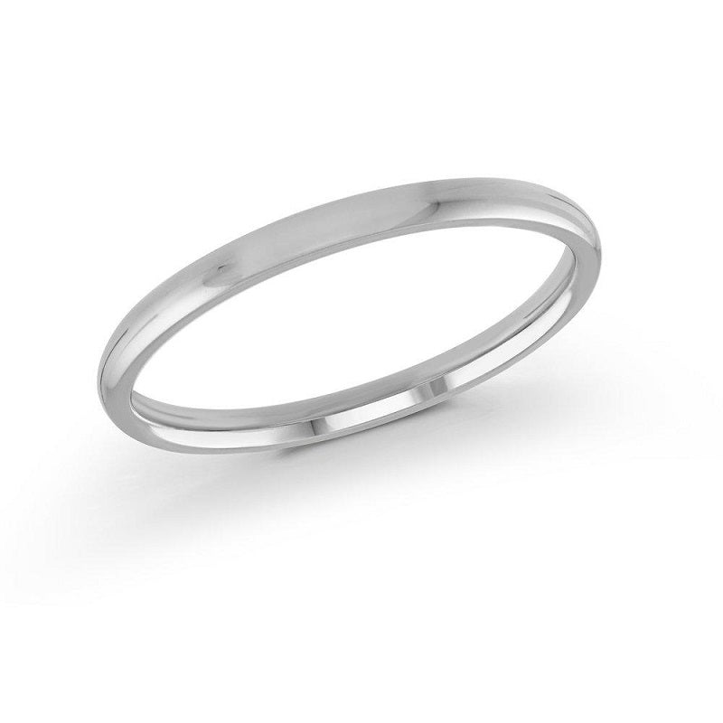 14kt White Gold 3mm Classic Wedding Band