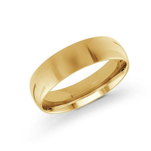 10kt White and Yellow Gold 6mm Classic Wedding Band