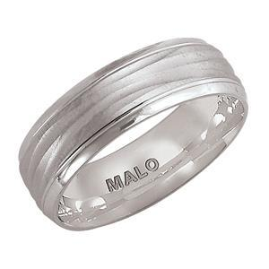 10kt White Gold Men's Wedding Band