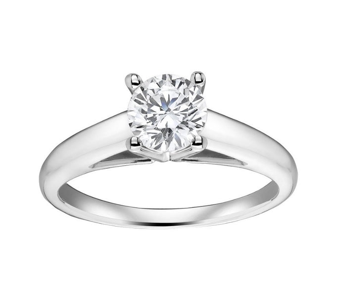 14kt White Gold Certified Diamond Engagement Ring