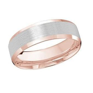 10kt Rose and White Gold Men's Wedding Band