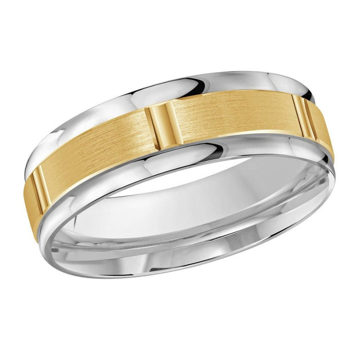 10kt White And Yellow Gold Gold Men's Wedding Band