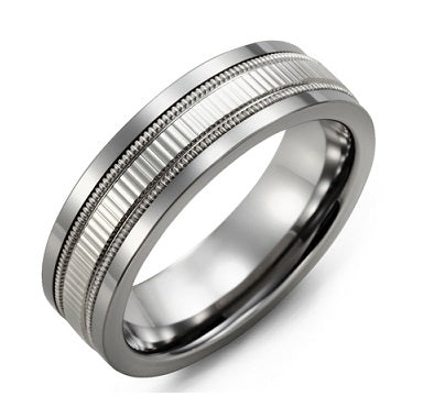 Men's Eternity Accents Milgrain Wedding Ring