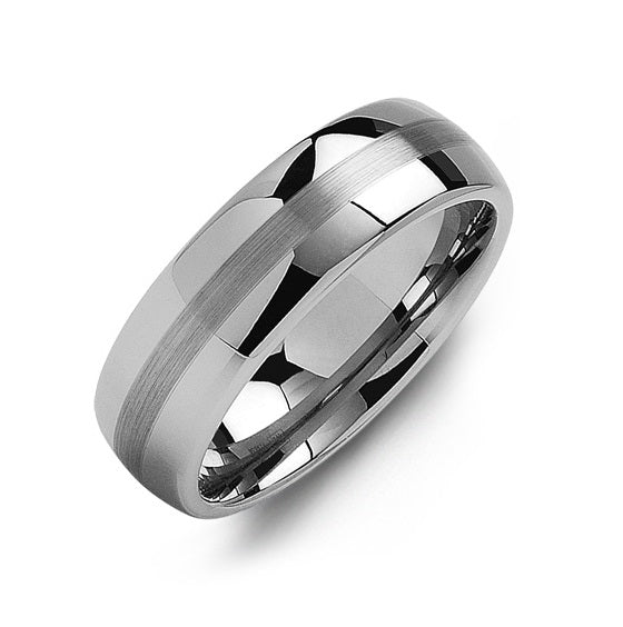 Men's Tungsten Two Band Effect Wedding Ring