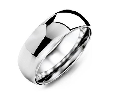 Men's Classic Wide Polished Tungsten Wedding Ring
