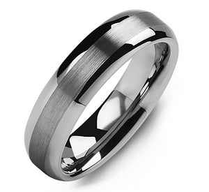 Men's Classic Thin Brushed Tungsten Wedding Ring