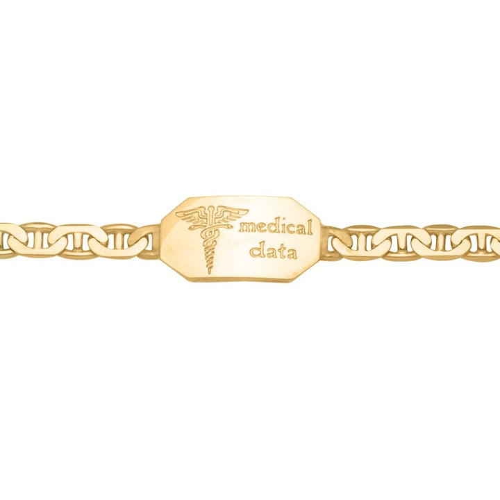10kt Yellow Gold Medical Alert Bracelet